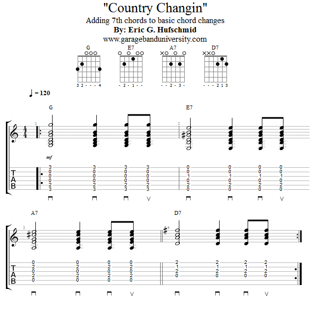 Country Chord Changes Guitar Lesson - Garage Band University