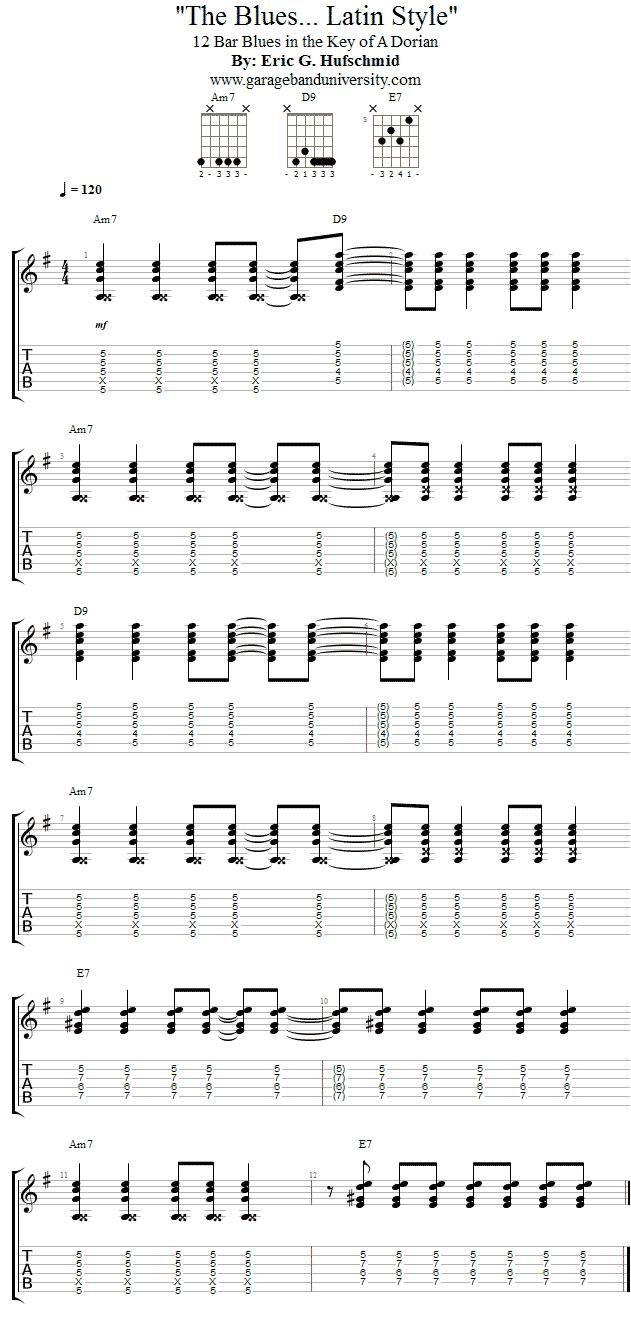 Santana Style Dorian Blues Progression Garage Band University