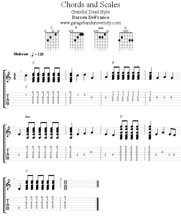 Grateful Dead style chord/melody riff - Garage Band University