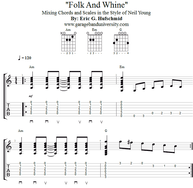 Neil Young style chords/scales riff - Garage Band University