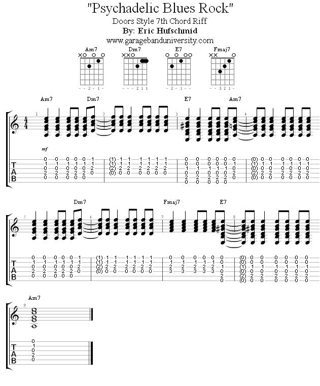 The Doors Style 7th Chord Riff  sc 1 st  Garage Band University & The Doors style 7th chord riff - Garage Band University