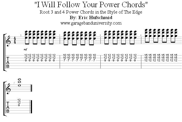 The Edge Style Power Chord Riff Garage Band University