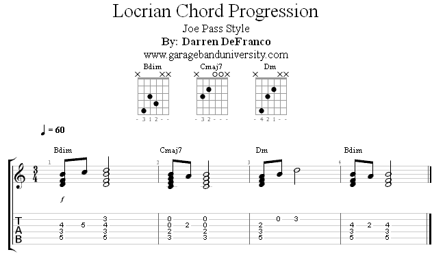 Joe Pass Style Locrian Progression - Garage Band University