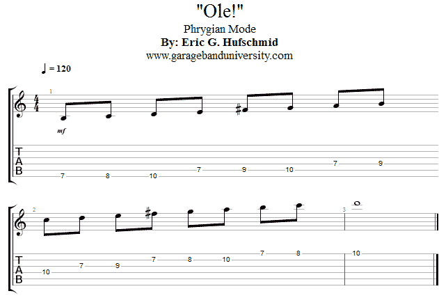 How to play the Phrygian scale - Garage Band University